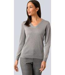 trui alba moda grijs::zilverkleur