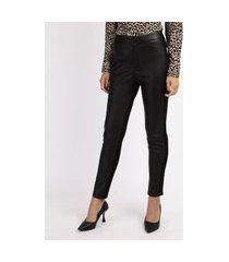 calça legging feminina cintura alta com recorte preta