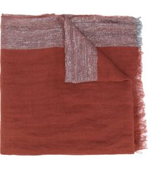 fabiana filippi lurex weave scarf - orange