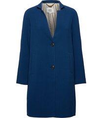 light outerwear dunne lange jas blauw noa noa