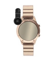 kit de relógio feminino euro digital - eujhs31back4d + lentes rosê