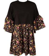 gcds floral print detail dress