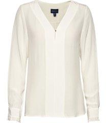 d2. tux blouse blouse lange mouwen wit gant