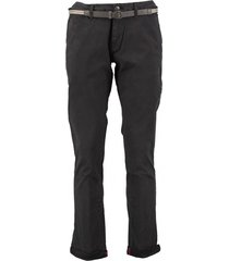 no excess motorblack stretch chino met riem