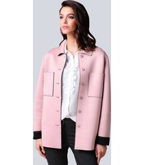jas alba moda roze::zwart