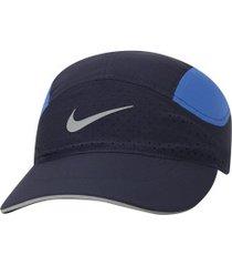 boné aba curva nike dry aerobill tailwind elite - strapback - adulto - azul esc/azul