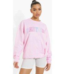 oversized babygirl sweater, pink