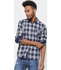 camisa xadrez overcore flanela estampa listrada masculina