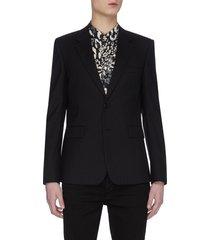 glitter stripe tailored blazer
