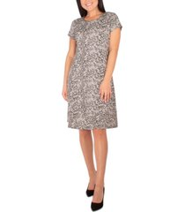 ny collection petite printed a-line dress