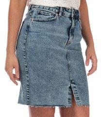 womens emily high waist denim skirt