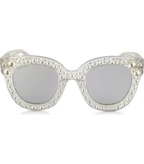 gucci designer sunglasses, gg0116s acetate cat eye women's sunglasses w/stars feature star worthy retro