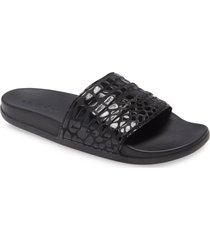 adidas adilette comfort slide sandal, size 13 women's in black/black/black at nordstrom