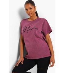 maternity acid wash mama slogan tshirt, wine