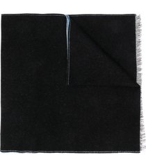 givenchy two-tone logo scarf - blue