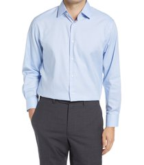 nordstrom traditional fit non-iron dress shirt, size 18.5 - 36 in blue cashmere at nordstrom