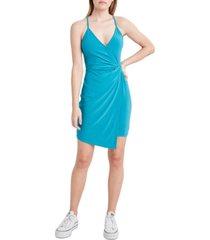 bcbgeneration knotted-waist faux-wrap dress