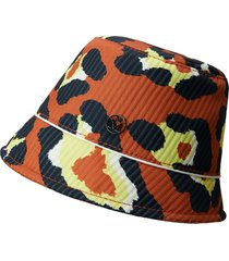 maison michel souna leopard-print bob hat - orange