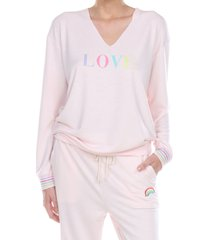 women's honeydew intimates easy rider sweatshirt, size x-small - pink