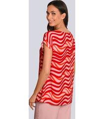 blus alba moda röd::rosa::orange