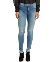 rag & bone women's cate mid-rise ankle skinny jeans - hazy daze - size 27 (4)