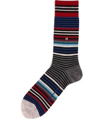 burlington socks red & blue stripe socks 21057-3001