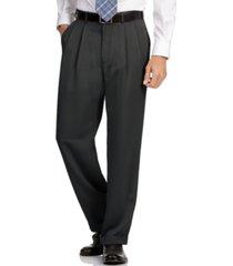 perry ellis portfolio big and tall double pleat melange microfiber dress pants