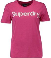 t-shirt flock roze