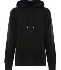solid black cotton hoodie