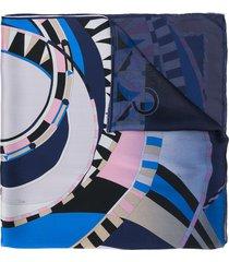 emilio pucci wally-print scarf - blue