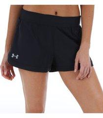 shorts under armour speedpocket - feminino - preto