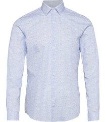 flower print slim shirt overhemd casual blauw calvin klein