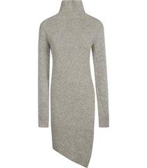 jil sander high-neck asymmetric knit dress