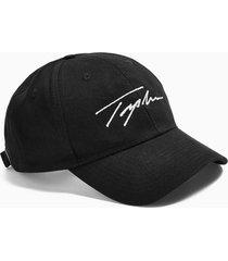 mens signature black printed cap