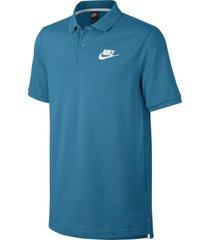 camiseta polo nike piquet matchup-azul acero-negro-azul acero