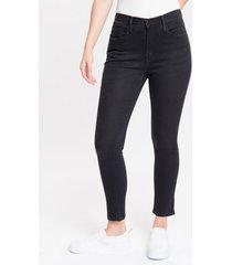 calça jeans five pockets jegging high - preto - 36