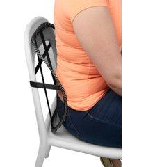 mind reader mesh lumbar support comfortable adjustable breathable cushion, black