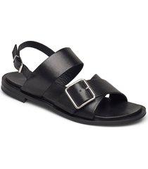 biadarla cross sandal shoes summer shoes flat sandals svart bianco
