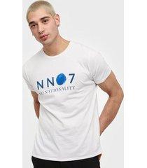 nn.07 mauro print tee 3460 t-shirts & linnen white
