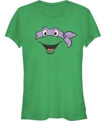 fifth sun teenage mutant ninja turtles women's donatello big face costume short sleeve tee shirt