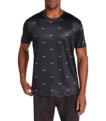 tallia men's slim-fit stretch mini leopards short sleeve t-shirt