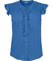 camicetta con ruches (blu) - bodyflirt