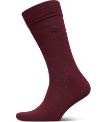d1. solid rib sock emb socks underwear socks regular socks röd gant