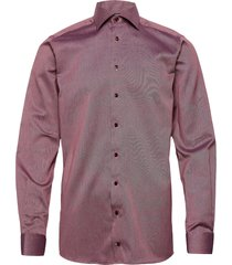 cont. x-long business casual signature twill shirt overhemd business rood eton