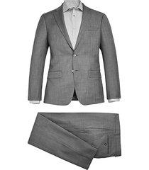calvin klein x-fit slim fit men's suit black & white sharkskin - size: 40 long