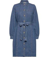 kayogz dress ao20 jurk knielengte blauw gestuz