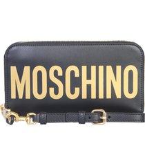 moschino long wallet with maxi logo