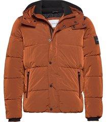 crinkle nylon mid length jacket fodrad jacka brun calvin klein
