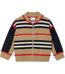 burberry beige cashmere and wool blend cardigan