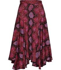 vila knälång kjol röd custommade